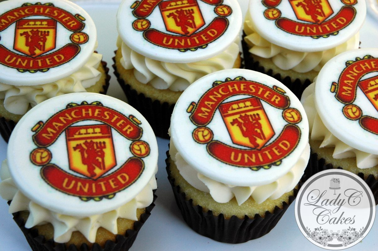 manchester united themed cupcakes lady c cakes